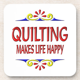 Quilting Makes Life Happy Beverage Coasters