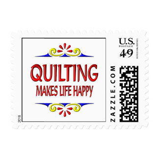 Quilting Makes Life Happy Postage