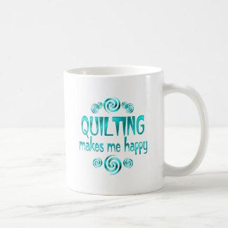 Quilting Makes Me Happy Classic White Coffee Mug