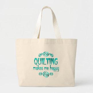 Quilting Makes Me Happy Jumbo Tote Bag