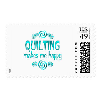 Quilting Makes Me Happy Postage