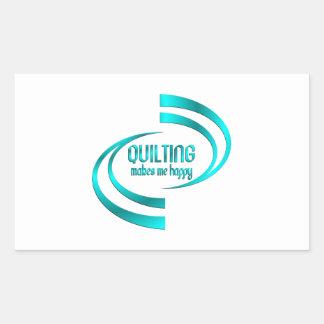 Quilting Makes Me Happy Rectangular Sticker