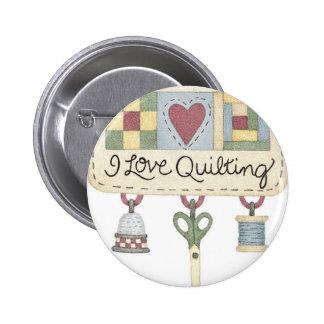 Quilting merchandise button