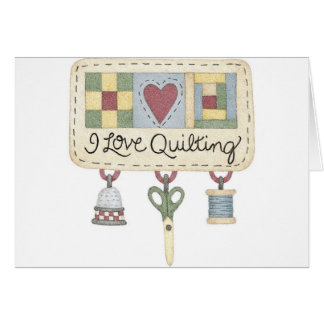 Quilting merchandise card