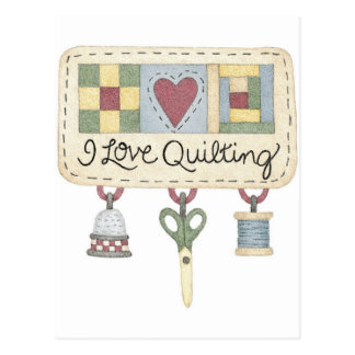 Quilting merchandise postcard