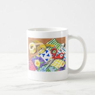 Quilting Notions Classic White Coffee Mug