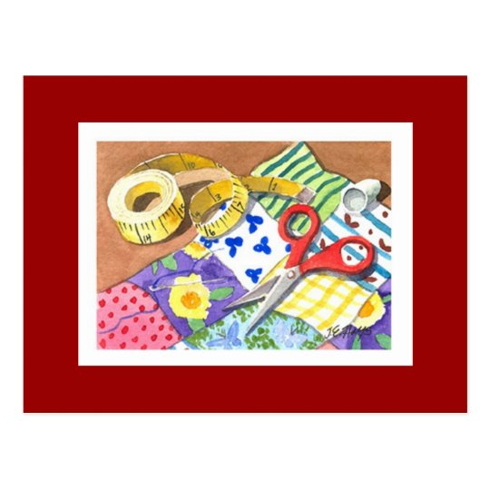 Quilting Notions Postcard
