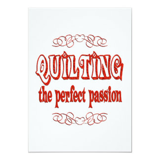 Quilting Passion 5x7 Paper Invitation Card