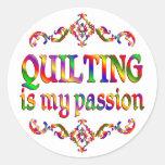 Quilting Passion Round Sticker