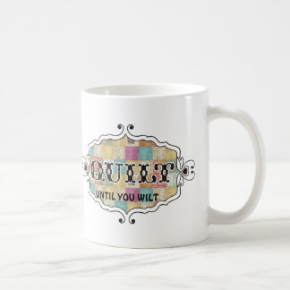 Quilting patchwork grunge quilter funny mug
