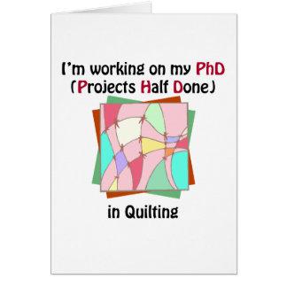 Quilting PhD Card