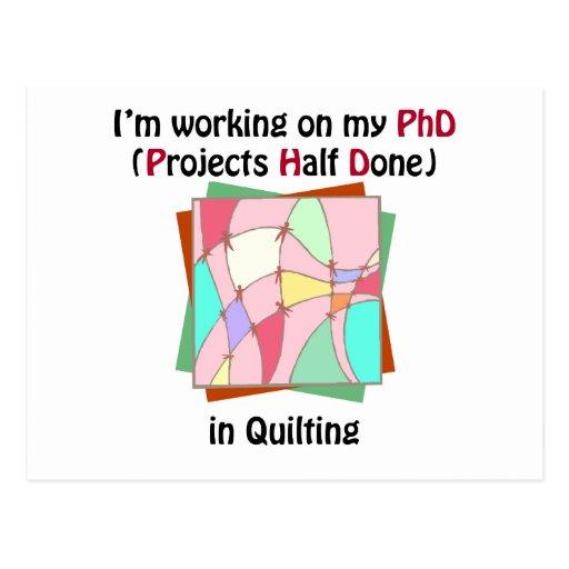 Quilting PhD Postcard