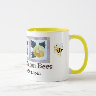 Quilting Queen Bees Mug - Yellow Trim