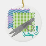 Quilting Queen Christmas Ornaments