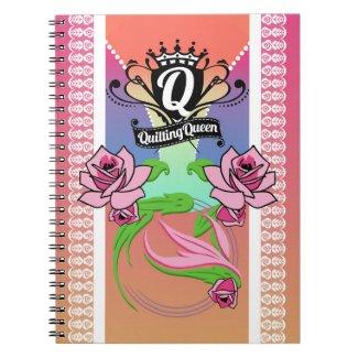 Quilting Queen Spiral Notebook