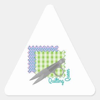 Quilting Queen Triangle Sticker