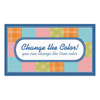 Quilting quilters fabric swatches crafts biz cards Double-Sided standard business cards (Pack of 100)