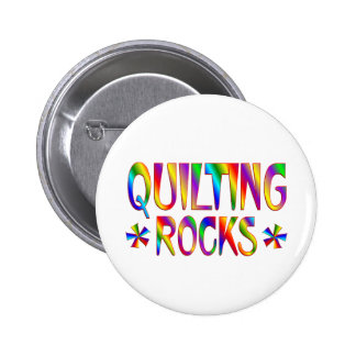 Quilting Rocks Pinback Button