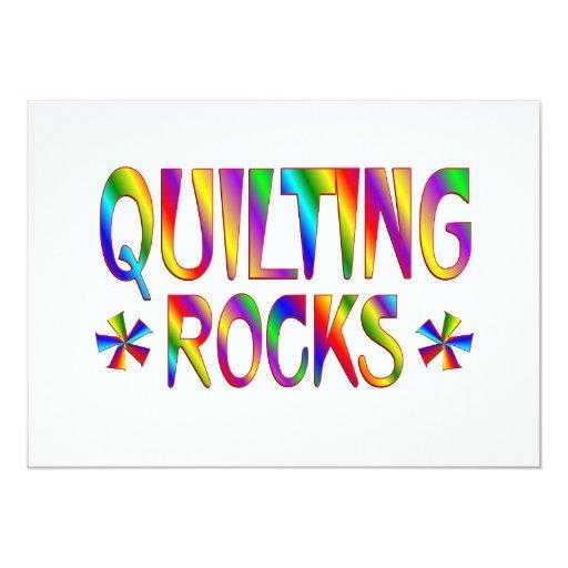 Quilting Rocks Invitations