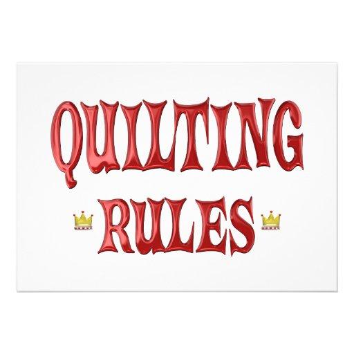 Quilting Rules Custom Invite