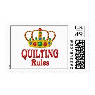 QUILTING RULES POSTAGE STAMP
