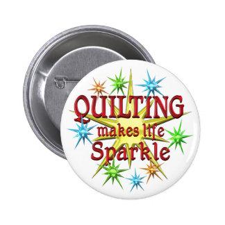 Quilting Sparkles Pinback Button