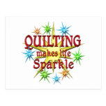Quilting Sparkles Postcard