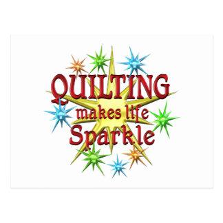Quilting Sparkles Postcard