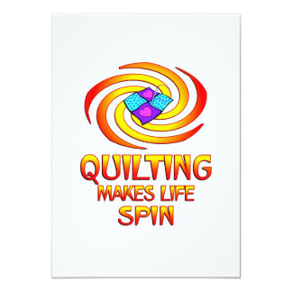 Quilting Spins 5x7 Paper Invitation Card