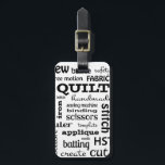 """Quilting Subway Art Luggage Tag<br><div class=""""desc"""">Travel to retreats and conferences in style with this luggage tag. A percentage of this purchase goes to support the Rocket City Modern Quilt Guild. The guild uses the funds to cover operating expenses and to purchase supplies for charity quilts which are donated to the local St. Jude&#39;s ward.</div>"""