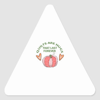 QUILTS ARE HUGS TRIANGLE STICKER