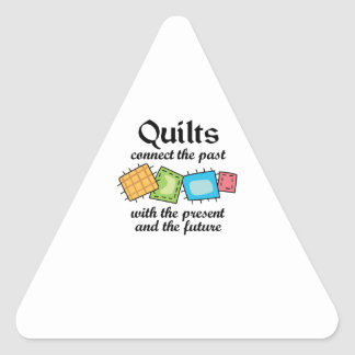 QUILTS CONNECT TRIANGLE STICKER