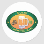 Quilts Drinking Team Stickers