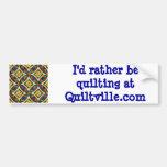 Quiltville Bumper Sticker Car Bumper Sticker