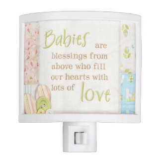 Quiltwork Baby Quote Night Light