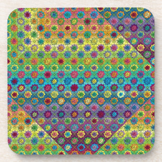 Quilty as Charged Beverage Coaster