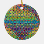 Quilty as Charged Double-Sided Ceramic Round Christmas Ornament