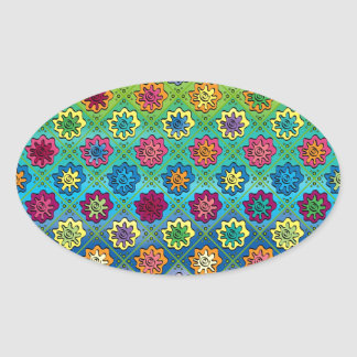 Quilty as Charged Oval Sticker
