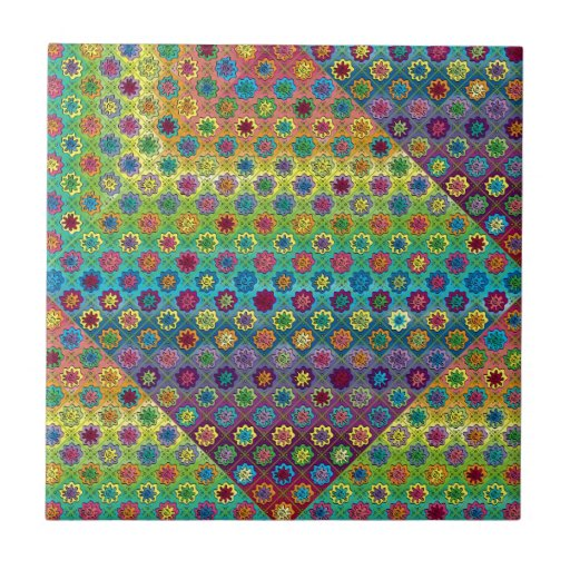 Quilty as Charged Small Square Tile