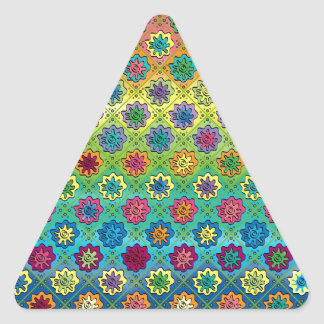 Quilty as Charged Triangle Sticker