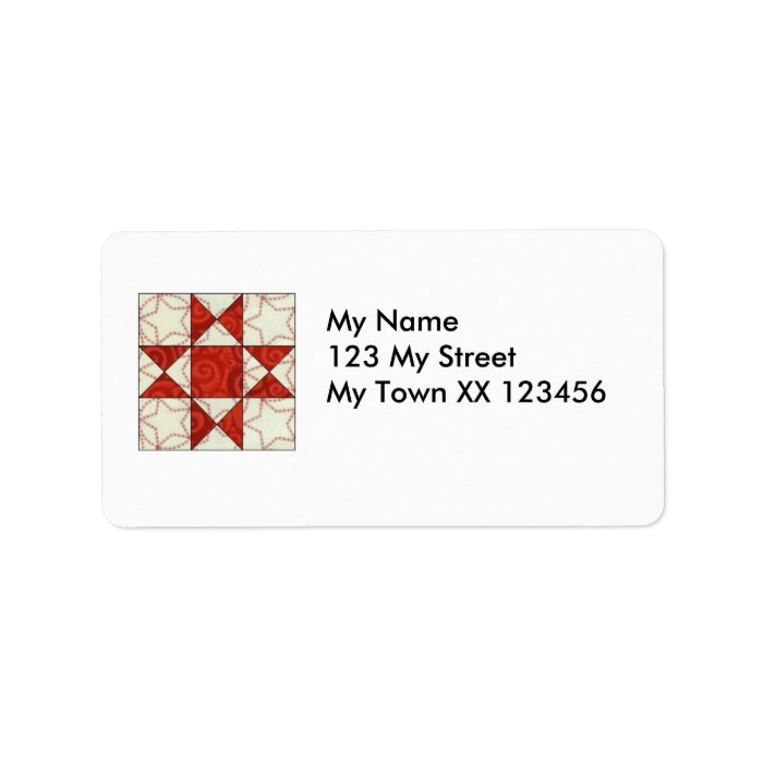'Quilty' Return Address labels