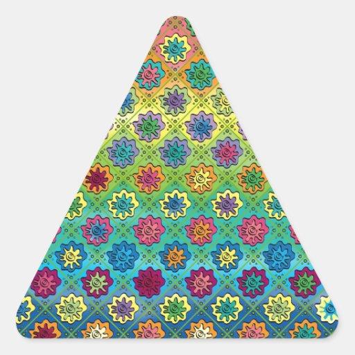 Quilty según lo cargado calcomanías trianguladas