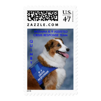 QUIMBY_7003,  INDIANA K-9 ASSISTEDCRISIS RESPON... POSTAGE
