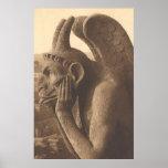 Quimera del Gargoyle de Notre Dame Impresiones
