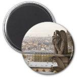 Quimera del Notre Dame de Paris Imán Redondo 5 Cm