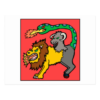 Quimera - libro de monstruos tarjeta postal
