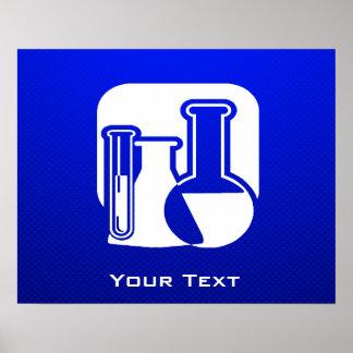 Química azul impresiones