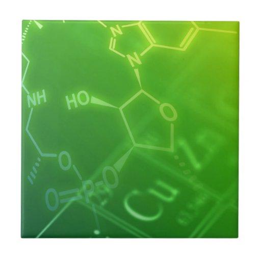 Química Azulejo Cuadrado Pequeño