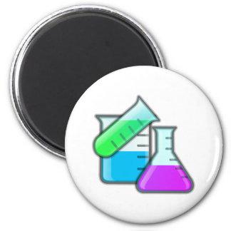 Química botella chemical flasks imán redondo 5 cm