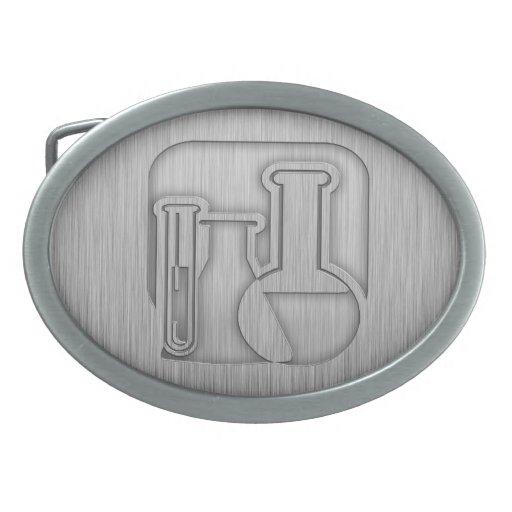 Química cepillada de la Metal-mirada Hebilla De Cinturón Oval